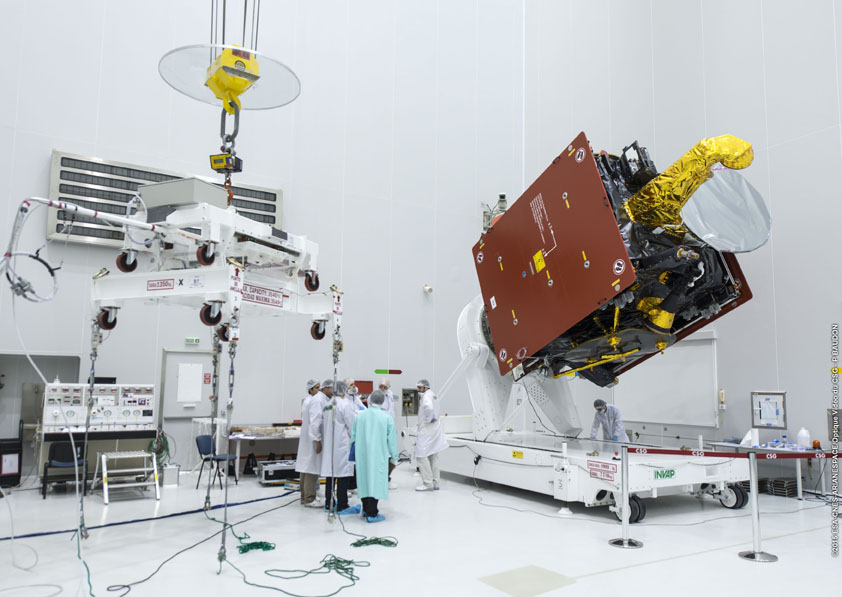ARSAT-2 - Photo: Arianespace/ESA/CNES