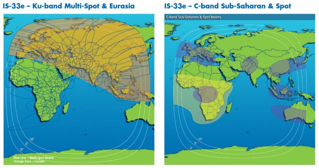 IS-33 Coverage Maps - Credit: Intelsat