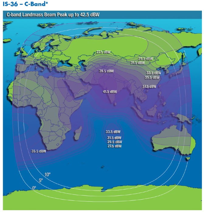 IS-36 Coverage Map - Credit: Intelsat