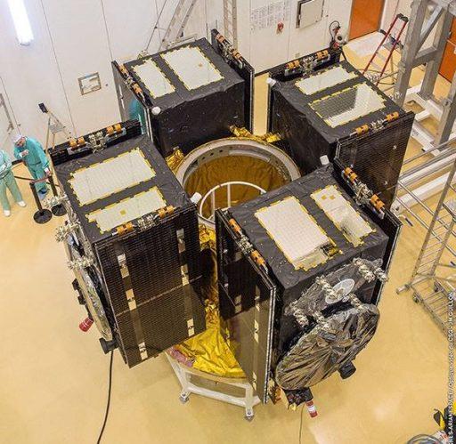Galileo Quadruplet Configuration - Photo: Arianespace/ESA/CNES/Optique Video du CSG