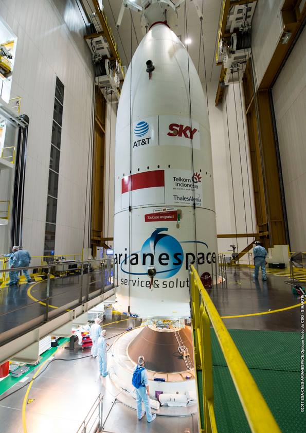 Ariane 5 Rocket In The Launch Zone For First Heavy Lift
