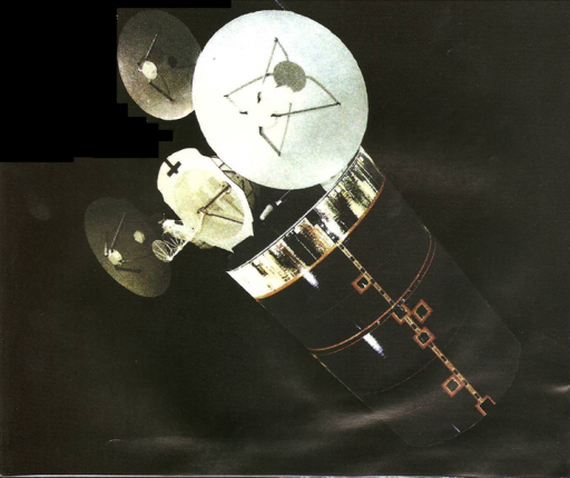 Declassified Image of Early SDS Satellite – Credit: National Reconnaissance Office