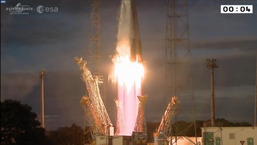 Photo: ESA/Arianespace Webcast
