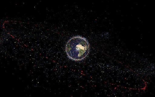 Space Debris Distribution - Image: ESA