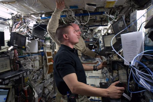 Robotics Training for Cygnus Arrival - Photo: NASA/Kjell Lindgren