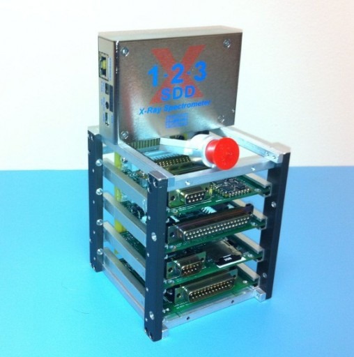 X123 & Satellite Card Cage - Photo: LASP