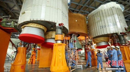 Business End of the Long March 5 Rocket - Photo: ChinaNews.com