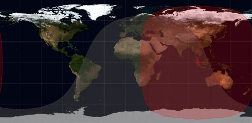NROL-37 - Current Orbit & Coverage Zone