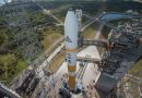 Delta IV Rocket ready for Twilight Liftoff with ninth WGS Military Communications Satellite