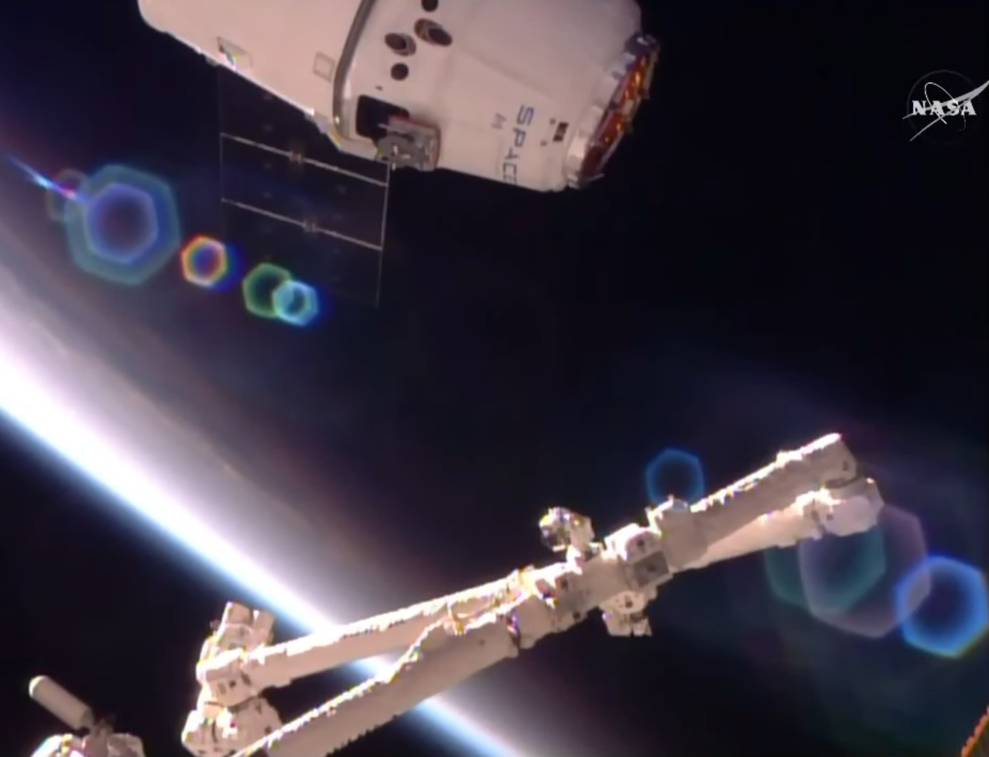 First Re-Used Dragon Arrives at Space Station with ...