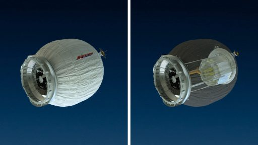BEAM - Deployed and Stowed Envelope - Image: NASA