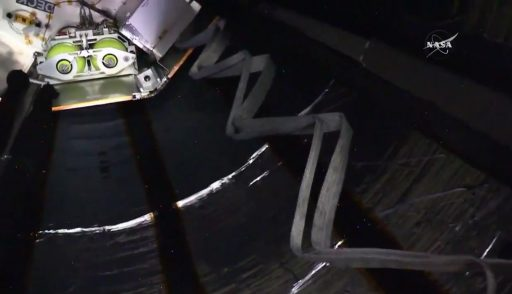A look inside BEAM - Photo: NASA TV