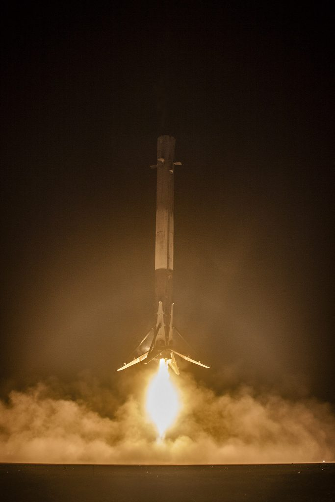 F9-021 Landing at LZ-1 - Photo: SpaceX