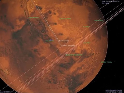 ExoMars 2016 Arrival seen by Mars Express - Image: ESA