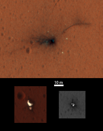 Schiaparelli's Crash Site in Color - Image: NASA/JPL-Caltech/University of Arizona