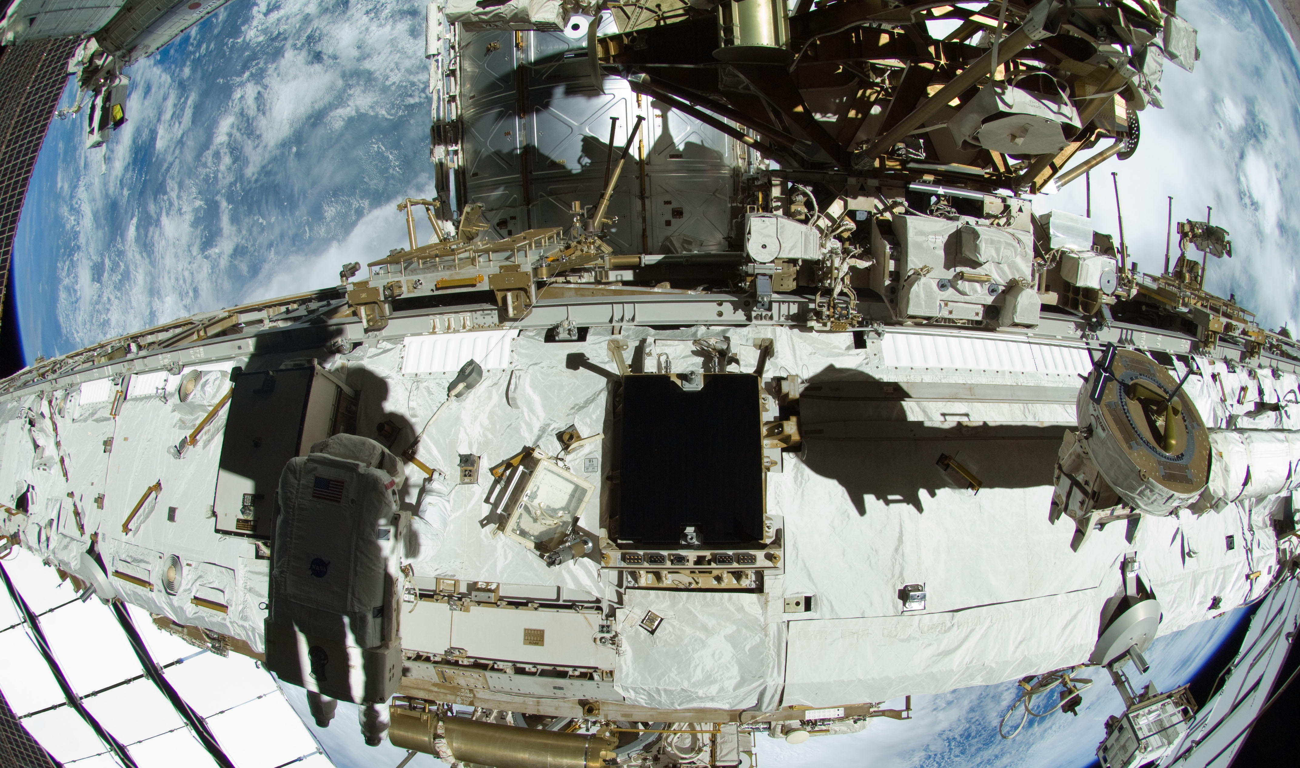 Iss Robots Successfully Replace Critical Power Switching Unit Faulty Circuitbreaker Box On The Orbiting Lab Maneuver Marks Suni Williams Working Near Mbsu 1 Us Eva 18 In 2012 Photo Nasa Looking Into Failure