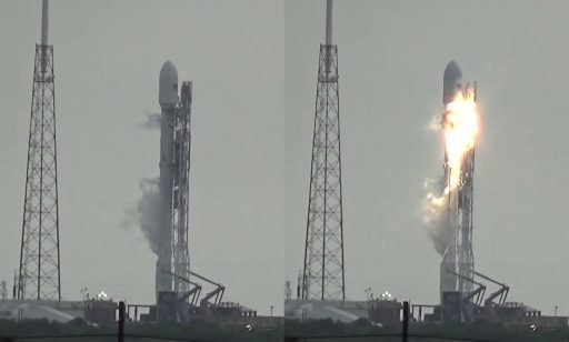 Last frame prior to failure and first frame after the onset of the anomaly - Credit: U.S. Launch Report