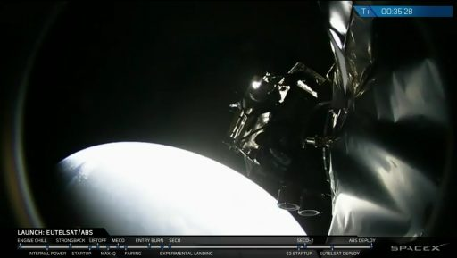 ABS 2A Separation - Photo: SpaceX Webcast