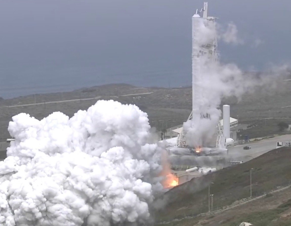 SpaceX Conducts Static Fire Test for Long-Delayed Falcon 9 ...