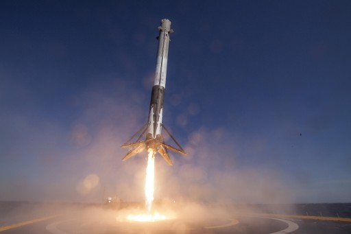 SpX-8 First Stage Landing - Photo: SpaceX
