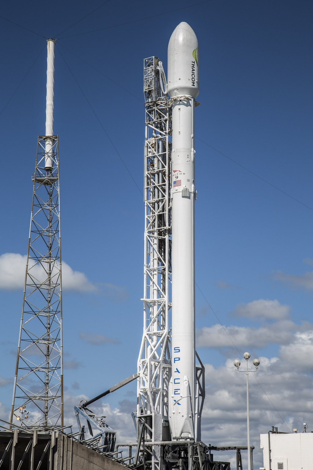 Falcon 9 Launch with Thai Comm Satellite scrubbed due to ...