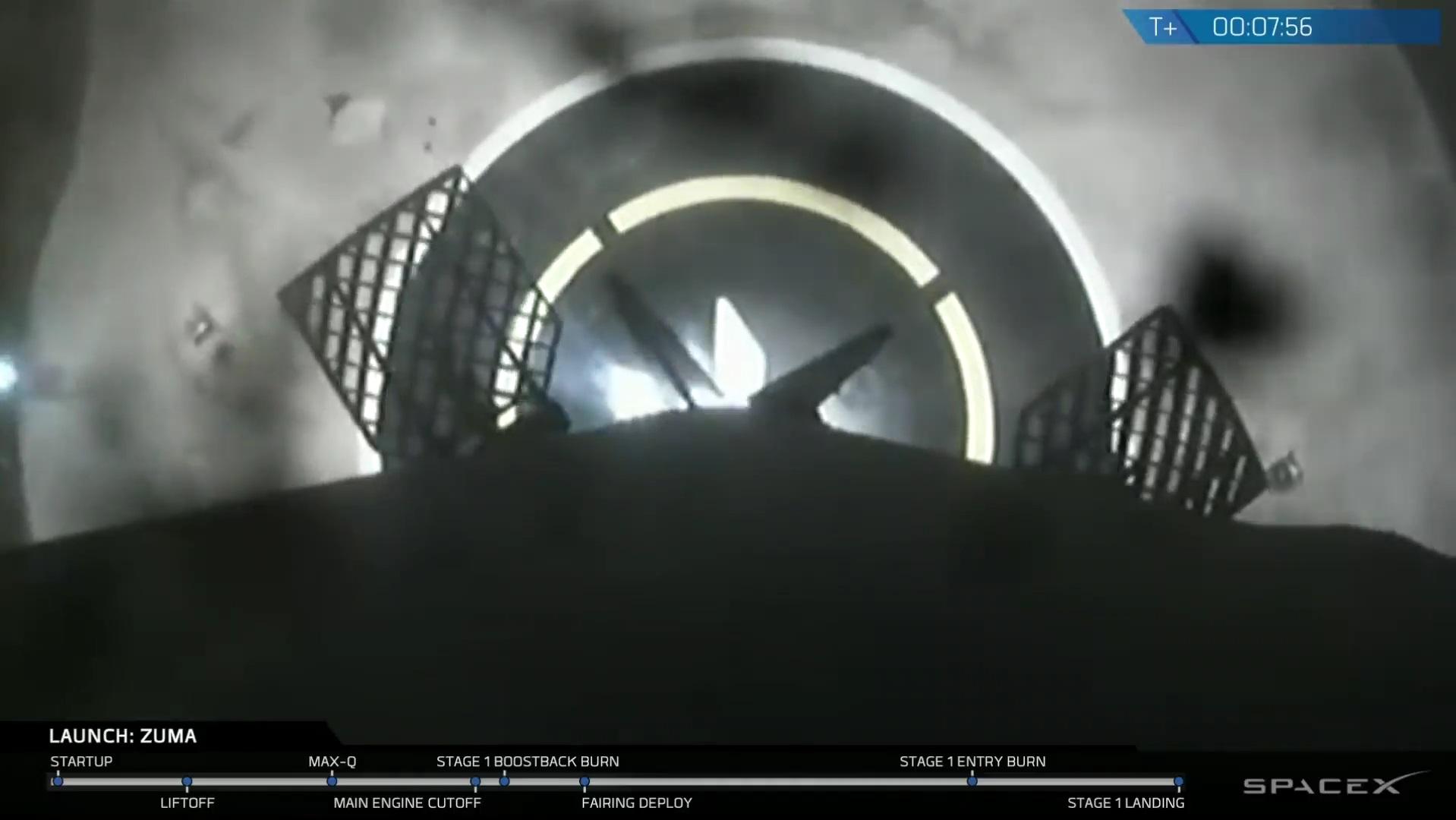 Top Secret Zuma Spacecraft Blasts Off On First Spacex