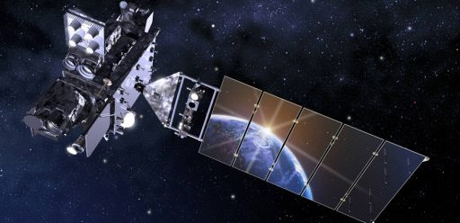 Artist's Rendering of GOES-R - Image: Lockheed Martin