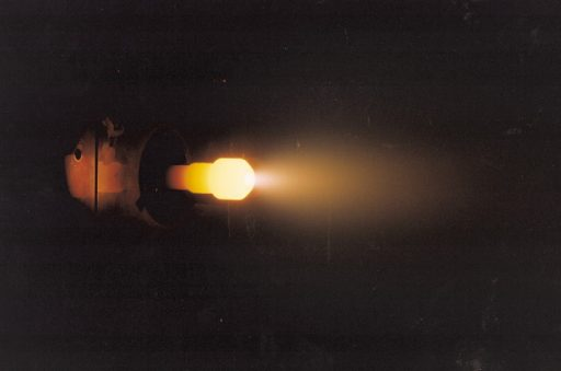 Arcjet during fire test - Photo: Aerojet Rocketdyne