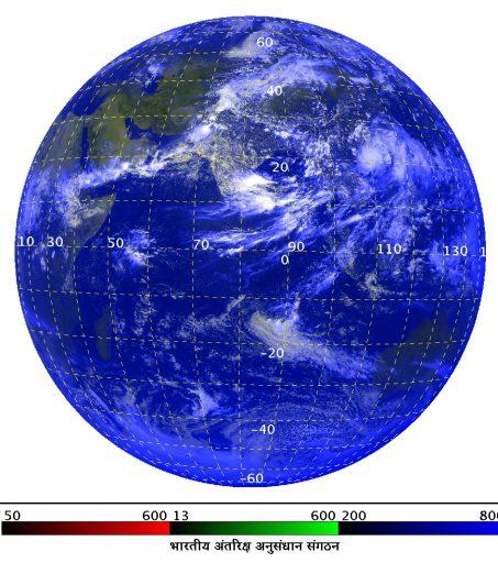 INSAT-3D TIR Image - Credit: ISRO
