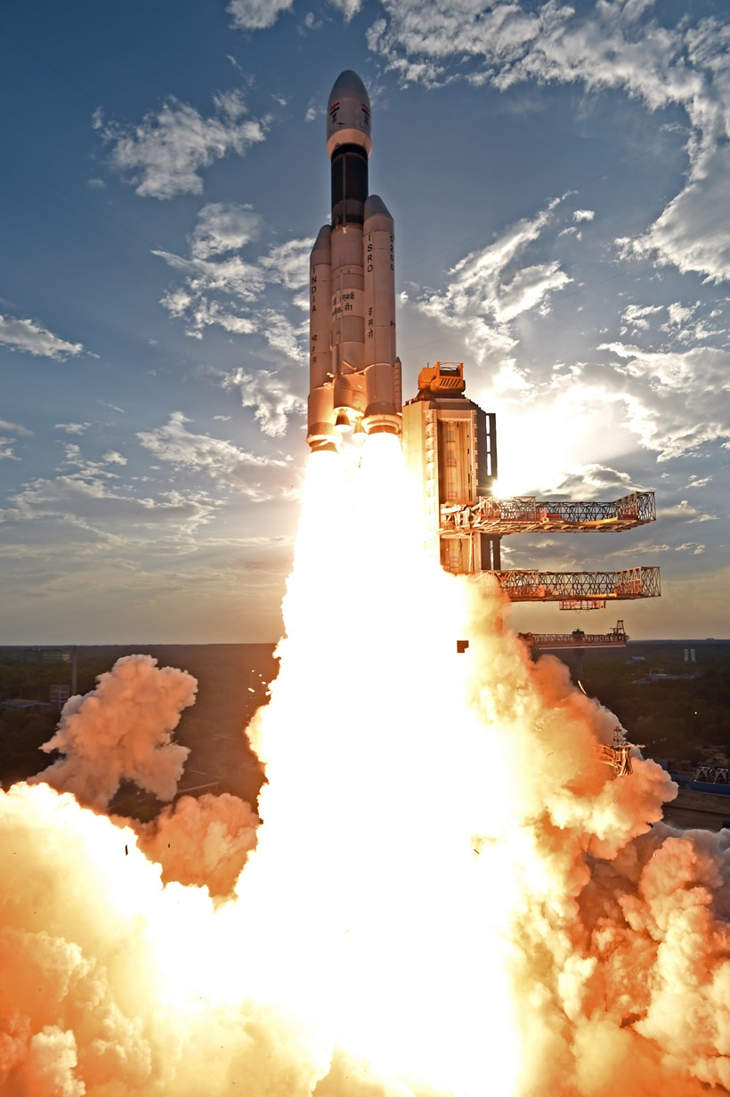 Photos India S Gslv Mk Iii Rumbles Off On First All Up