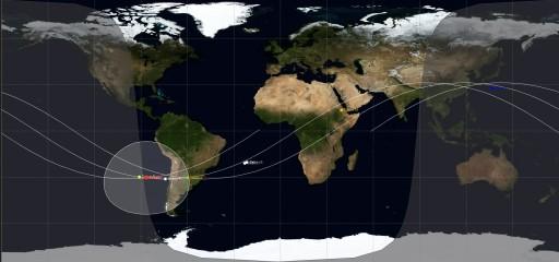 Current Debris Dispersion - Image: Spaceflight101/JSatTrak