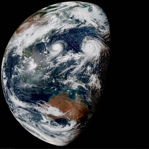 Himawari-8 Image - Credit: JMA/NOAA/Colorado State University