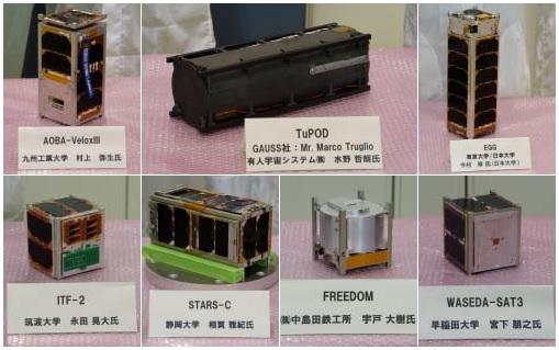 HTV-6 CubeSats - Image: JAXA