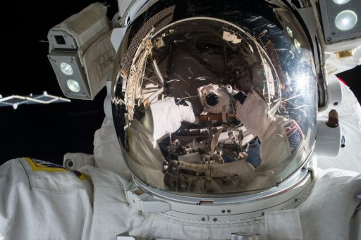 Kjell Lindgren during one of two spacewalks - Photo: NASA