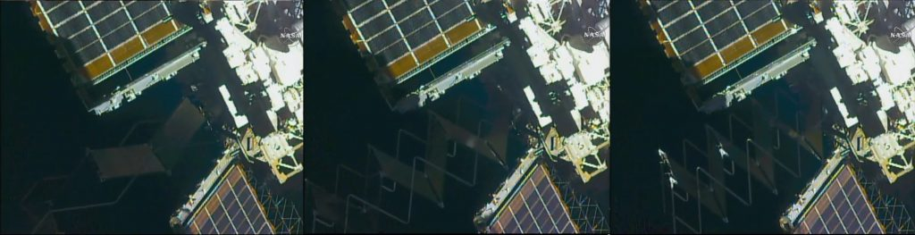 TTCR Retraction Sequence (EVA-33) - Photo: NASA TV/Spaceflight101