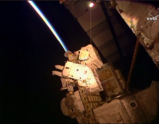 Orbital Sunset for Kjell Lindgren at ESP-2 - Photo: NASA TV