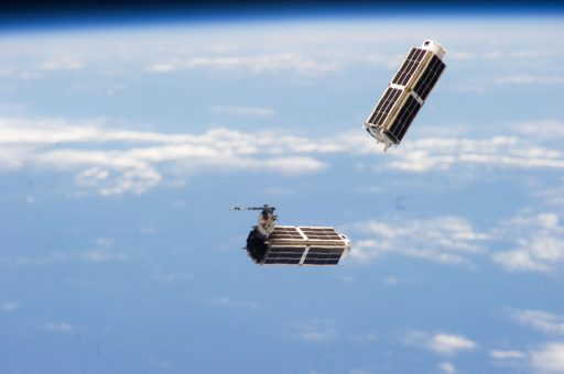Photo of an earlier deployment of Flock-1 CubeSats - Credit: NASA