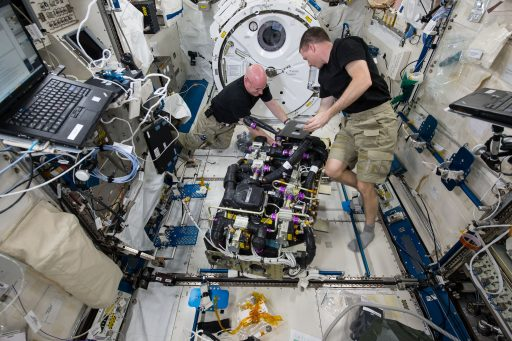 CDRA Maintenance (2015) - Photo: NASA