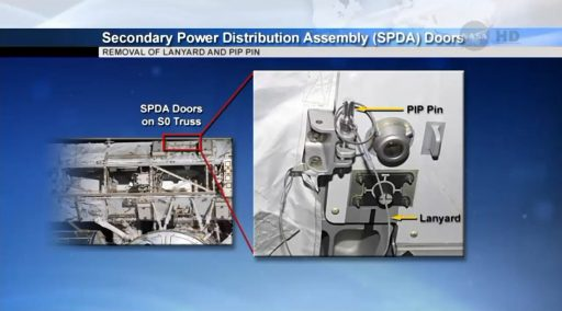 SPDA Doors - Image: NASA TV