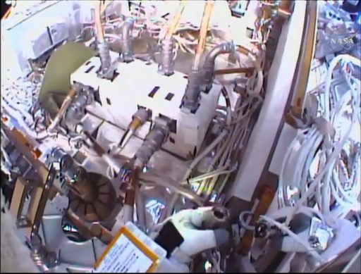 'Rats Nest Cable Work - Photo: NASA TV