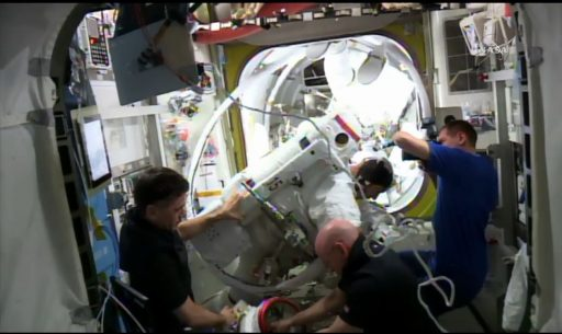 Post EVA Water Sampling - Photo: NASA TV
