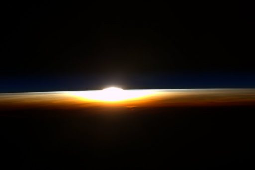 Scott Kelly shared this photo of his last sunrise seen from the Space Station.