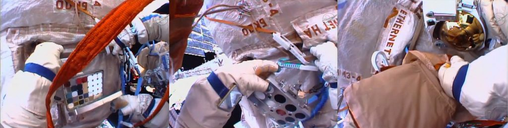 CKK 2-M2 folded-up, removed & bagged. - Photos: NASA TV