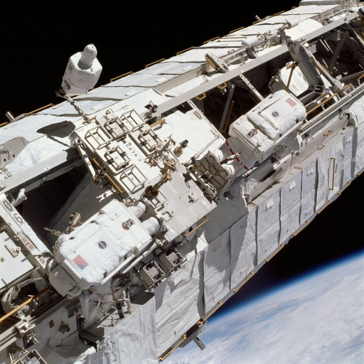 CETA Cart in use during EVA - Photo: NASA