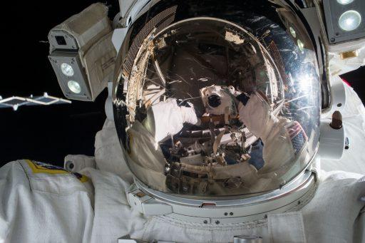 Kjell Lindgren during one of two spacewalks - Photo: NASA