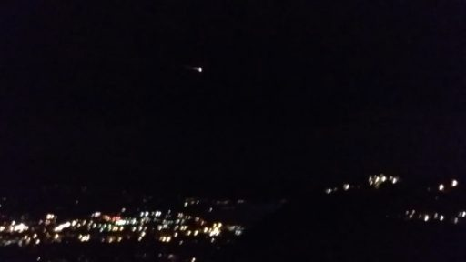 Re-Entry seen over Santa Barbara - Credit: Ed Hat, Youtube