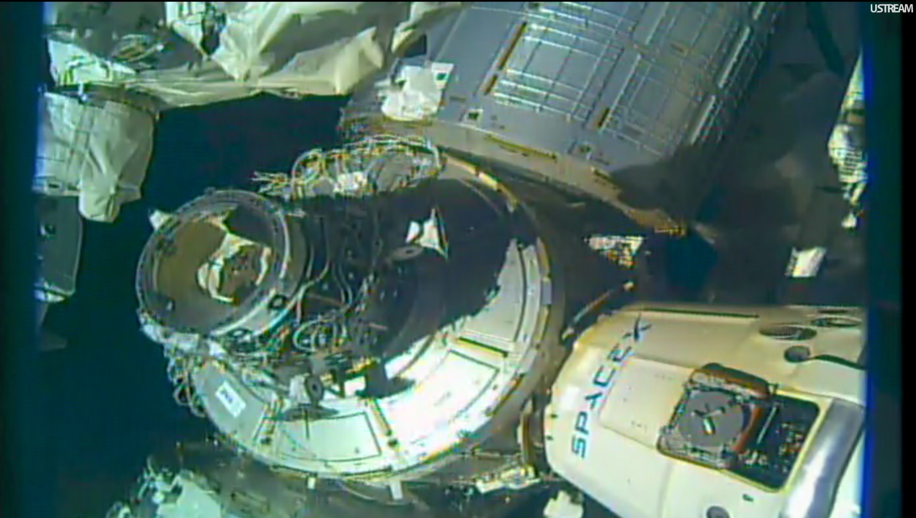ISS Robots position International Docking Adapter for ...