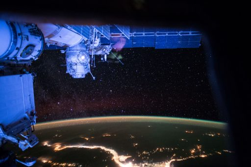 MLM Nauka would replace the Pirs Module pictured in this nighttime panorama - Photo: NASA
