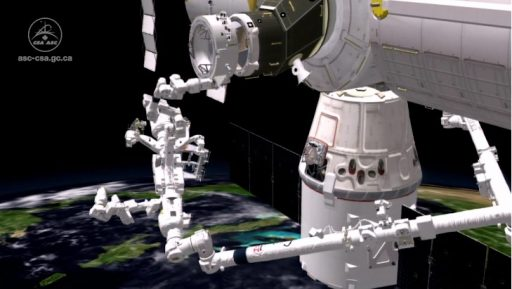 Desired pre-EVA configuration - Image: Canadian Space Agency