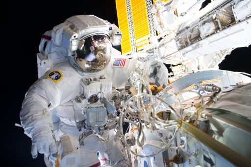 Williams during last week's spacewalk - Photo: NASA